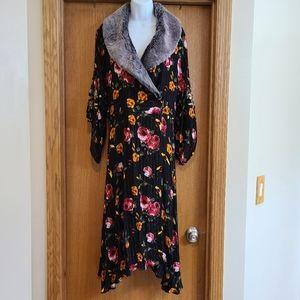 Aratta Silent Journey Floral Kimono Duster L